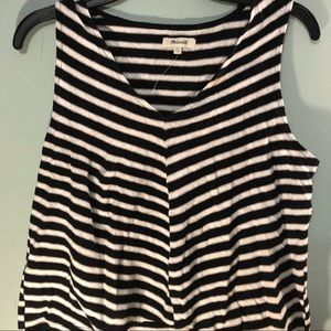 Madewell size s black and white stripe tank